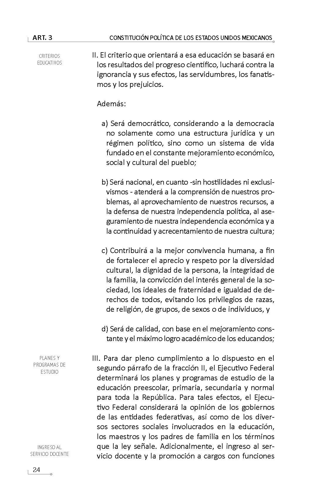 Constitución Política De Los Estados Unidos Mexicanos Y Tratados Internacionales