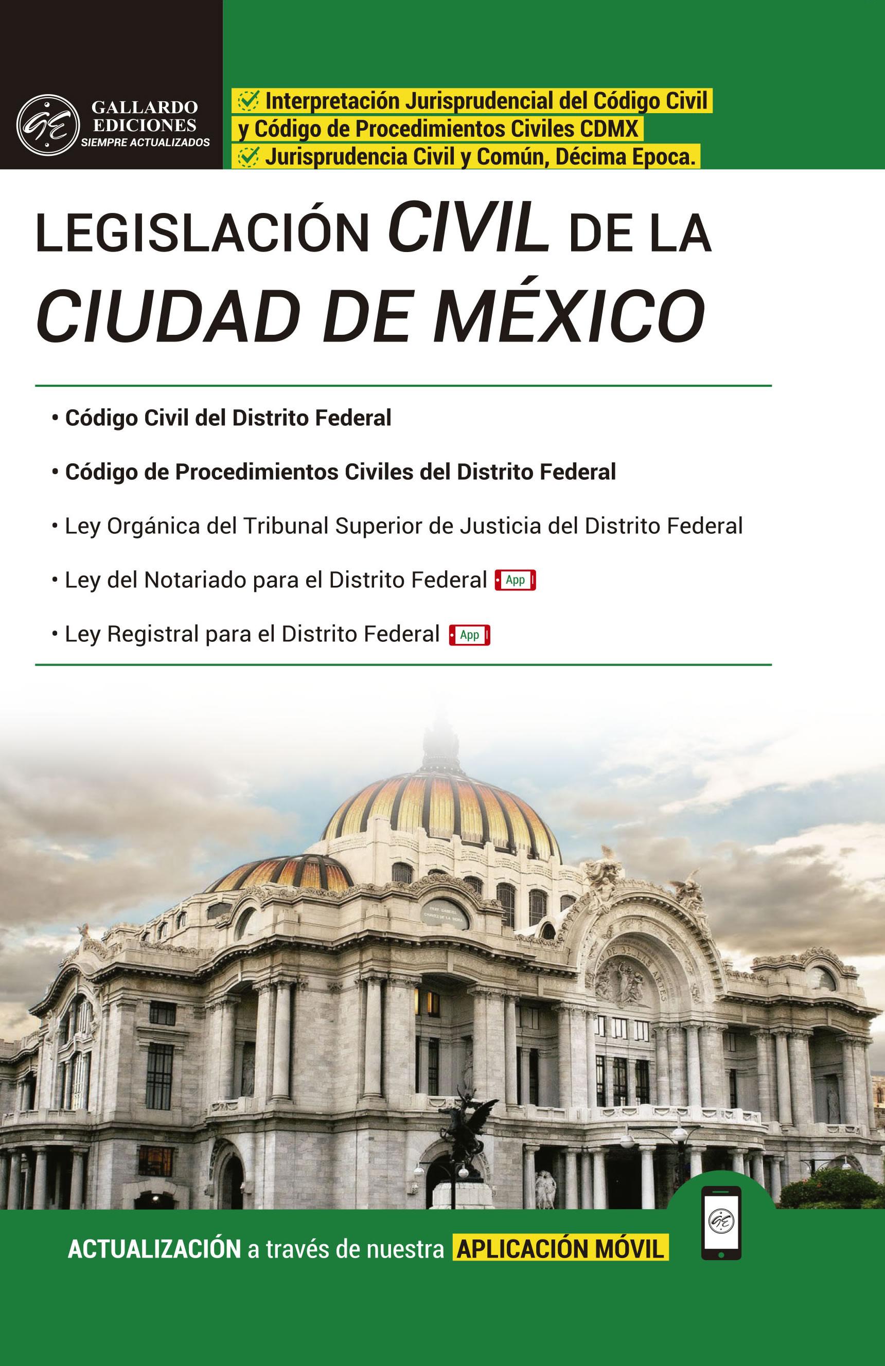 Legislación Civil de la Ciudad de México 2018 PRO