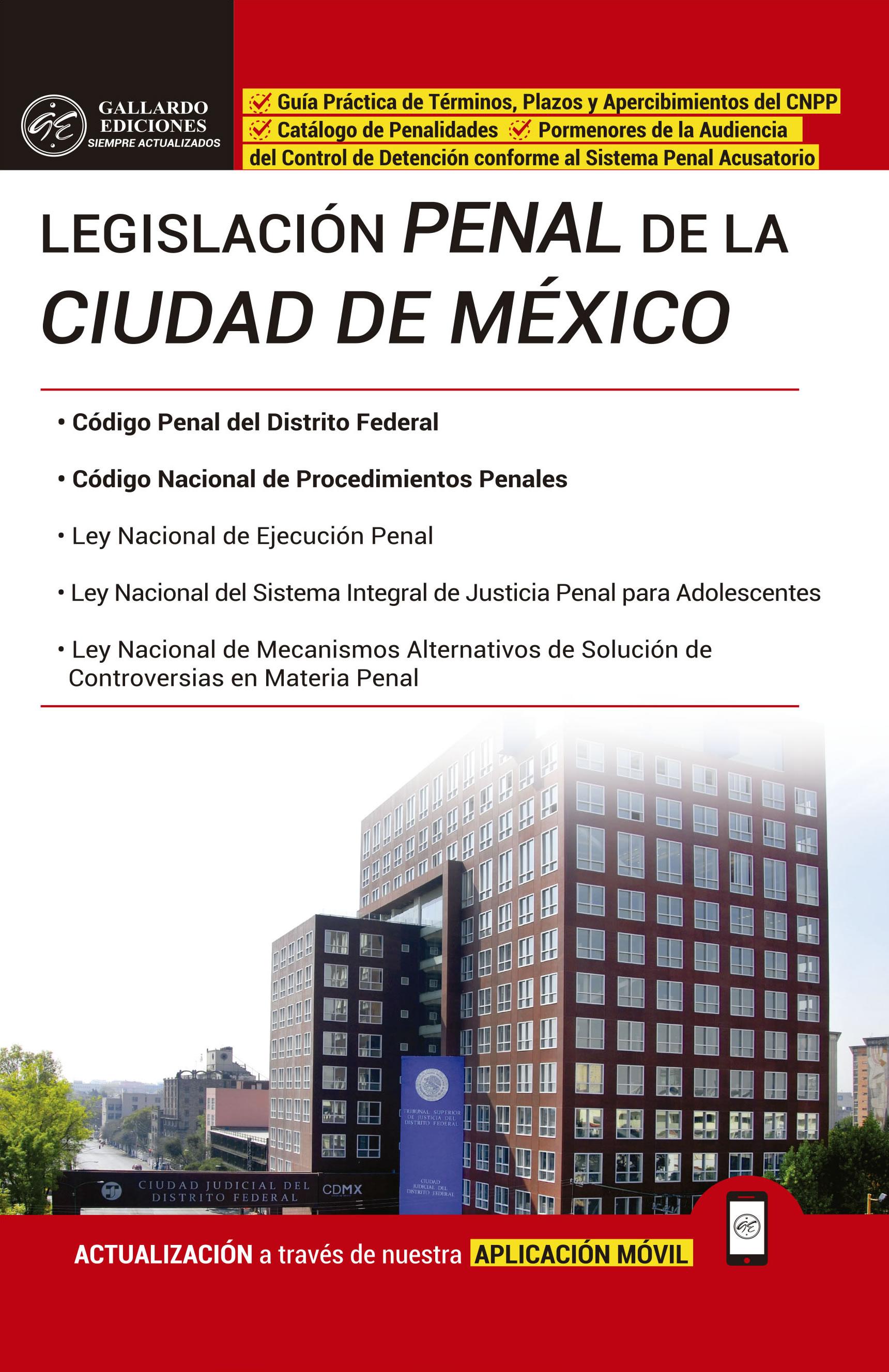 Legislación Penal de la Ciudad de México 2018 PRO