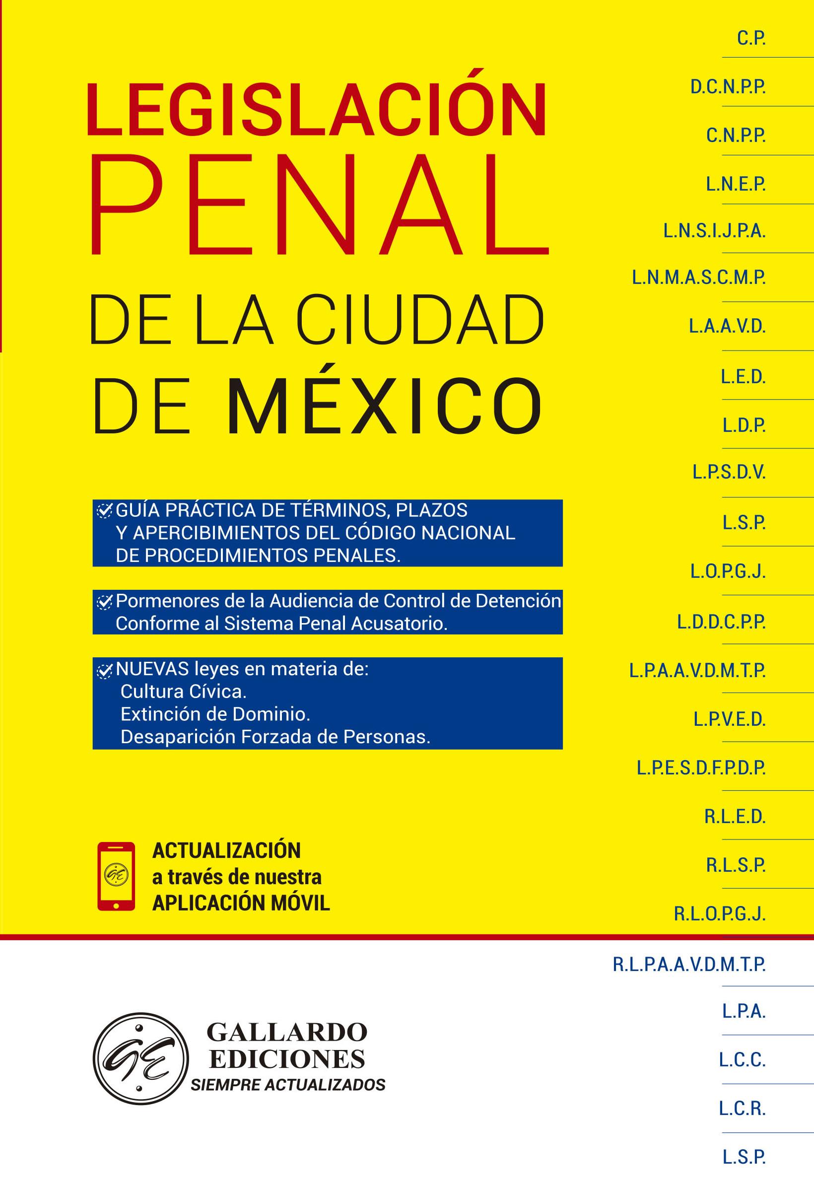 Legislación Penal de la Ciudad de México 2018