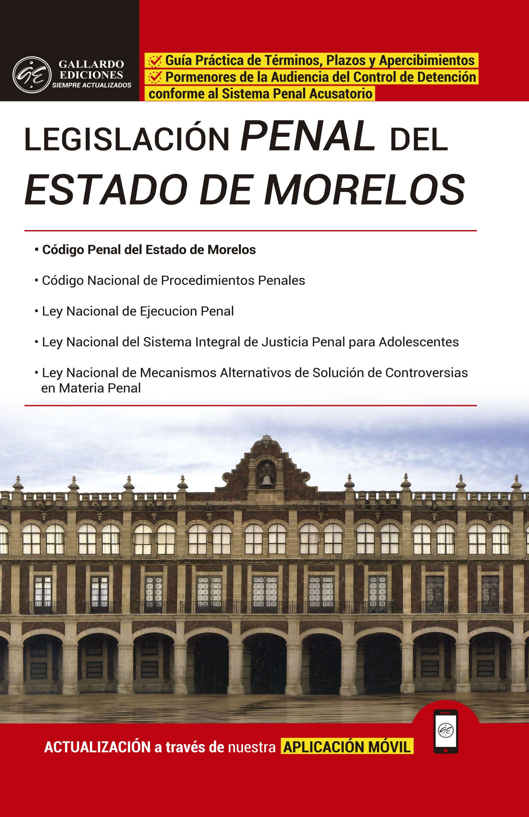 Legislación Penal del Estado de Morelos 2018