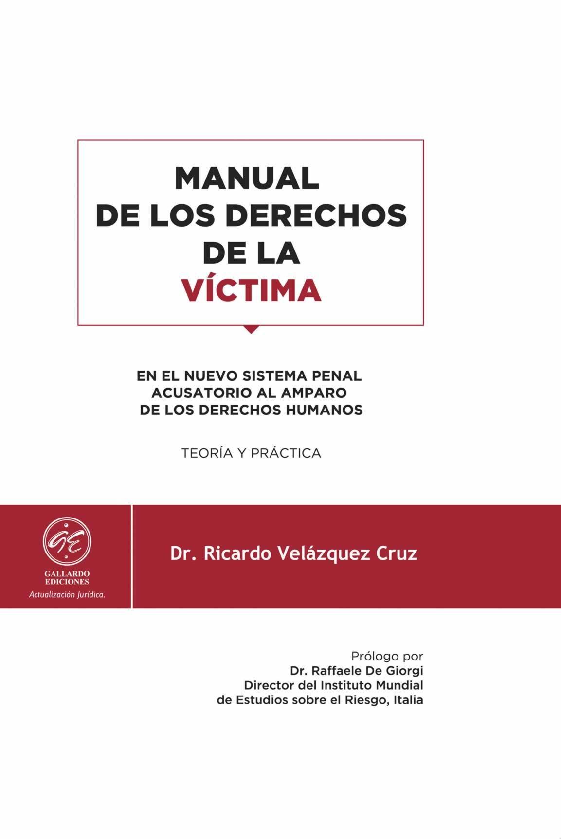 Manual de los Derechos de la Víctima