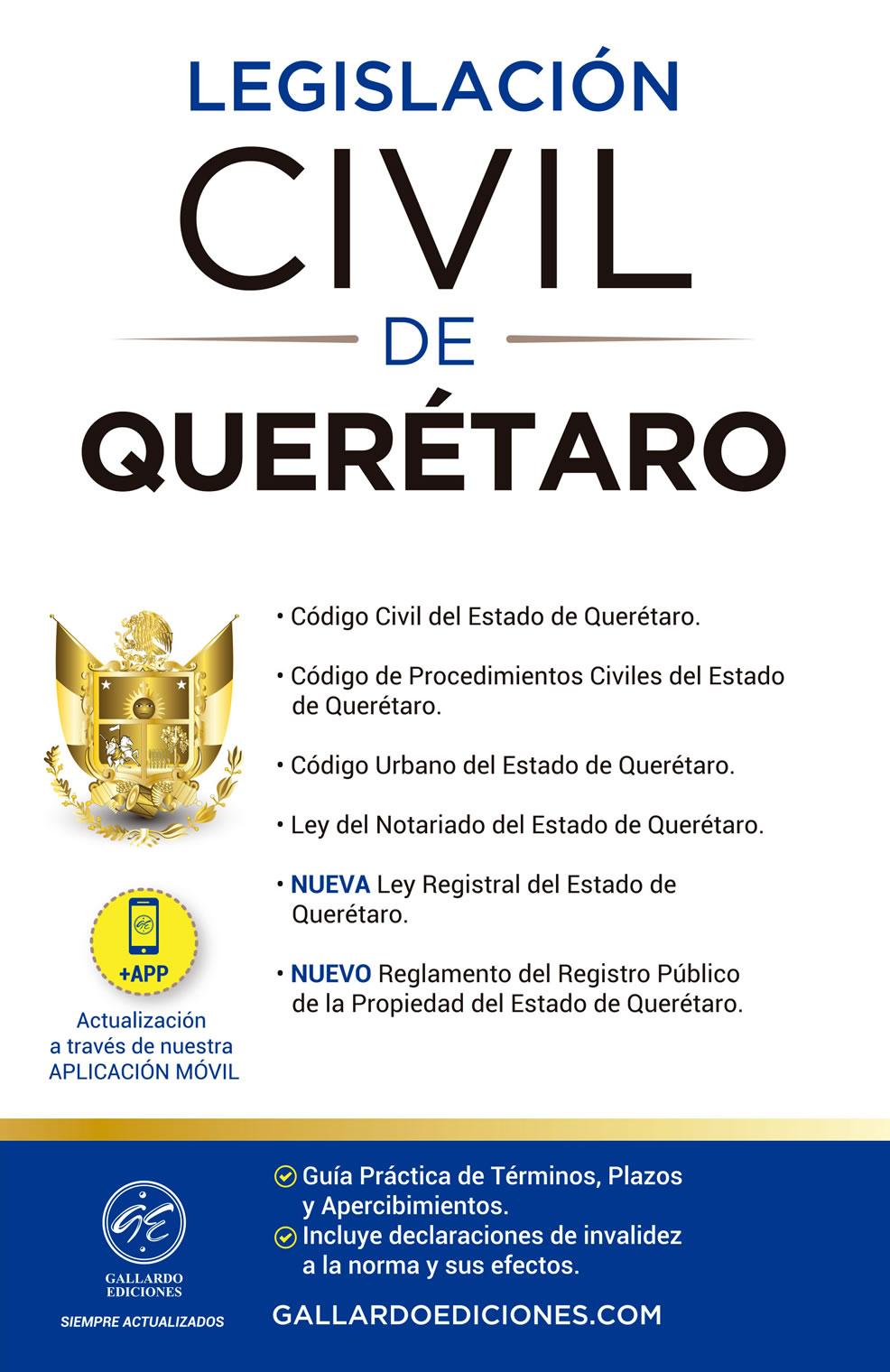 Legislación Civil de Querétaro 2021