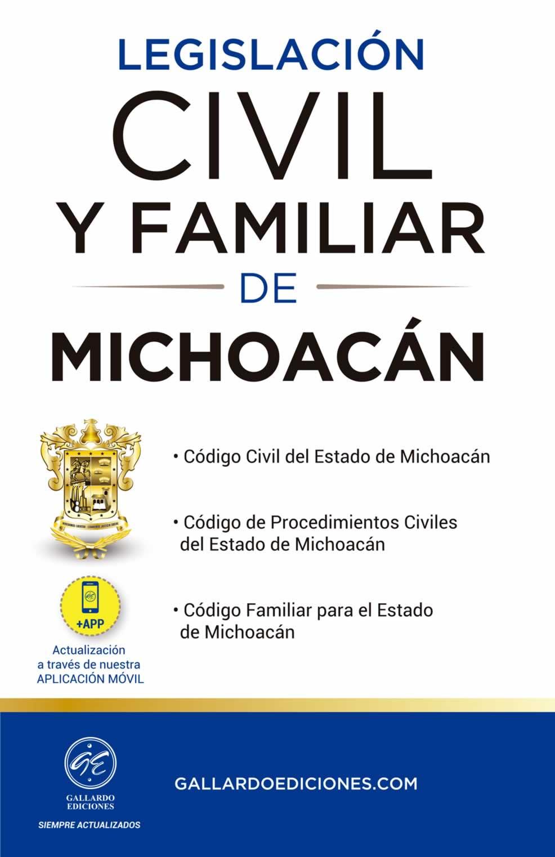 Legislación Civil y Familiar de Michoacán 2021