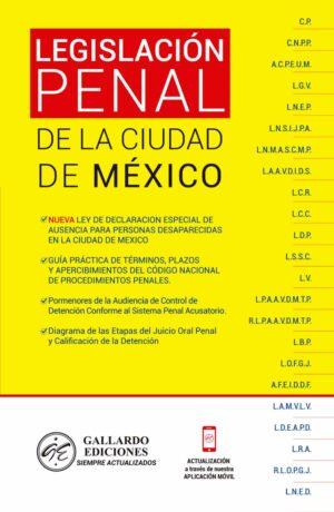 Legislación Penal de la Ciudad de México 2021