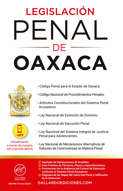 Legislación Penal de Oaxaca 2021